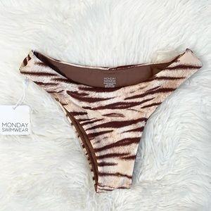 Monday Swim Byron Bikini Bottom Tiger Sz P